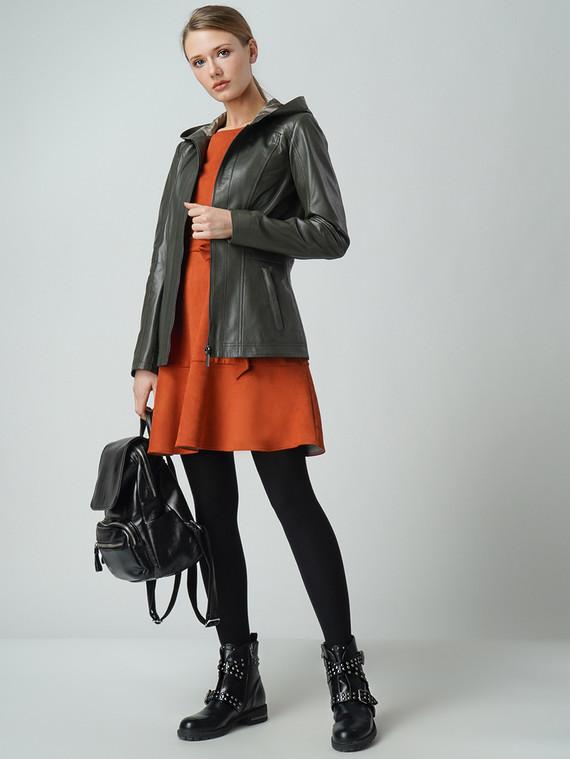 Кожаная куртка кожа , цвет темно-зеленый, арт. 06005528  - цена 12690 руб.  - магазин TOTOGROUP