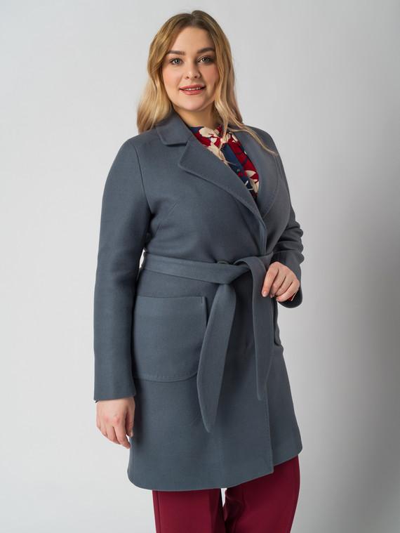 Текстильное пальто 30%шерсть, 70% п.э, цвет синий, арт. 06005636  - цена 5890 руб.  - магазин TOTOGROUP