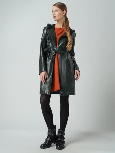 Кожаное пальто эко-кожа 100% П/А, цвет зеленый, арт. 06005774  - цена 5890 руб.  - магазин TOTOGROUP