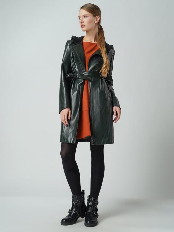 Кожаное пальто эко кожа 100% П/А, цвет зеленый, арт. 06005774  - цена 6290 руб.  - магазин TOTOGROUP
