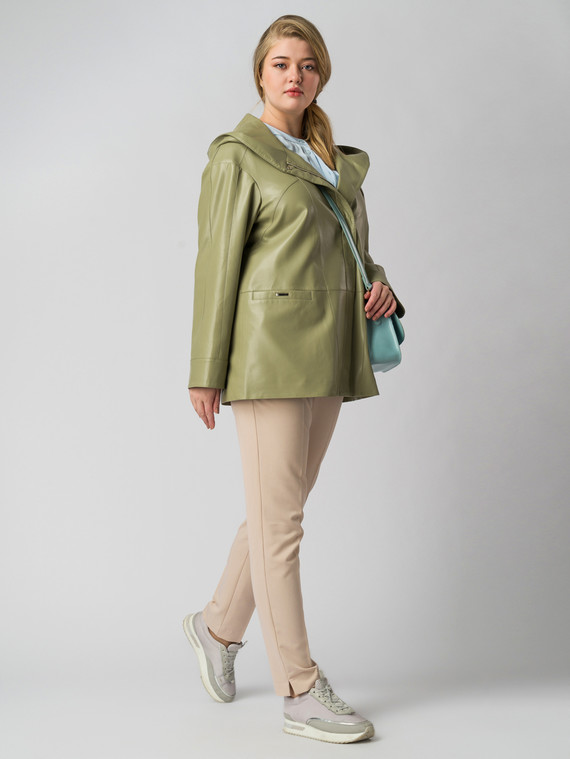 Кожаная куртка эко кожа 100% П/А, цвет зеленый, арт. 06005775  - цена 6990 руб.  - магазин TOTOGROUP