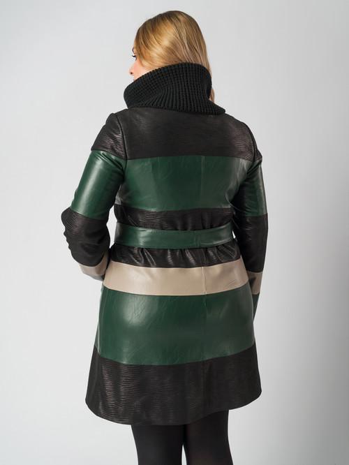 Кожаное пальто артикул 06005788/46 - фото 3