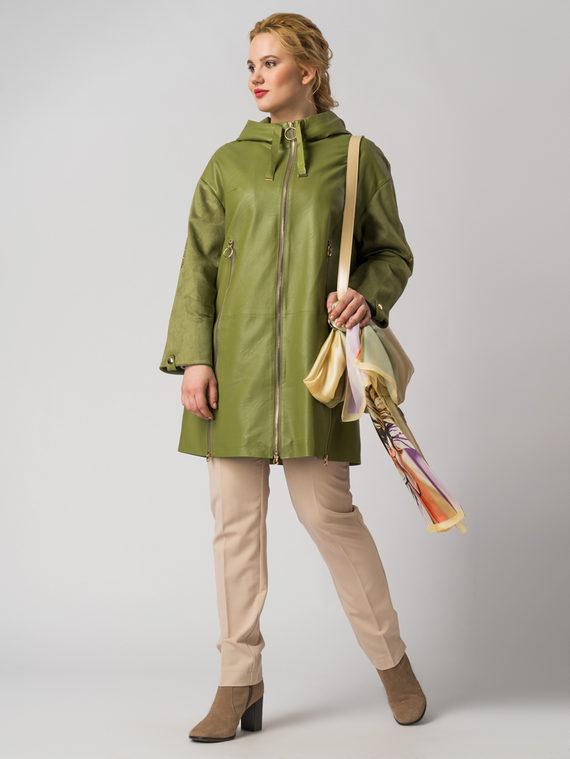 Кожаное пальто эко кожа 100% П/А, цвет зеленый, арт. 06005789  - цена 6630 руб.  - магазин TOTOGROUP