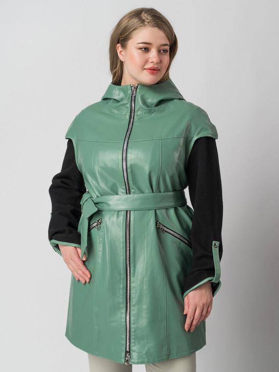Кожаная куртка эко кожа 100% П/А, цвет зеленый, арт. 06005885  - цена 6630 руб.  - магазин TOTOGROUP