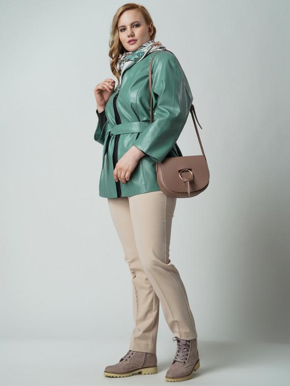Кожаная куртка эко кожа 100% П/А, цвет зеленый, арт. 06005886  - цена 6990 руб.  - магазин TOTOGROUP