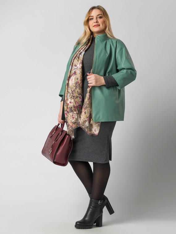 Кожаная куртка эко-кожа 100% П/А, цвет зеленый, арт. 06005932  - цена 5890 руб.  - магазин TOTOGROUP