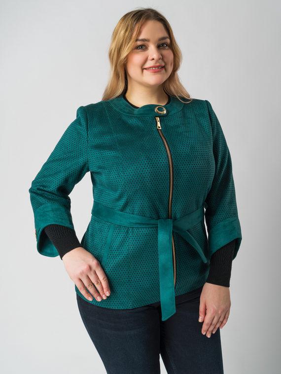 Кожаная куртка эко кожа 100% П/А, цвет зеленый, арт. 06005942  - цена 5290 руб.  - магазин TOTOGROUP