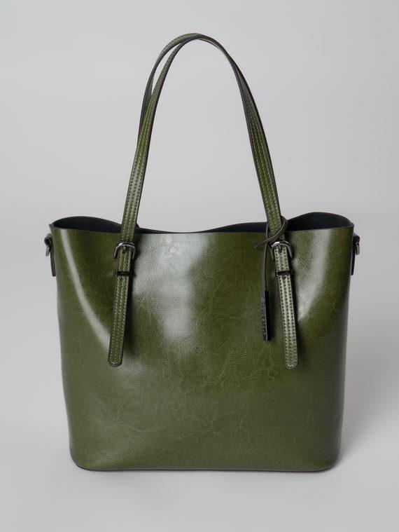 Сумка кожа теленок, цвет зеленый, арт. 06005998  - цена 5290 руб.  - магазин TOTOGROUP