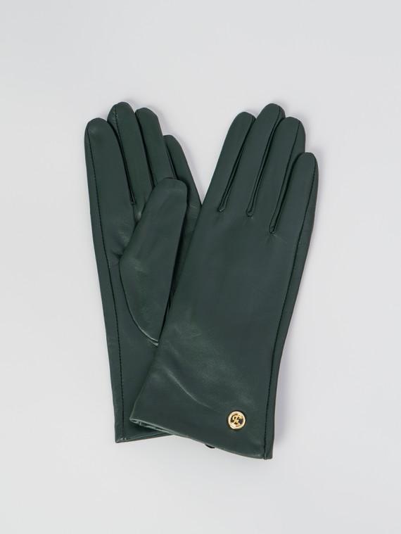 Перчатки кожа , цвет зеленый, арт. 06006071  - цена 2060 руб.  - магазин TOTOGROUP