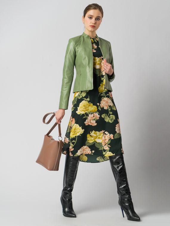 Кожаная куртка кожа , цвет зеленый, арт. 06006103  - цена 7990 руб.  - магазин TOTOGROUP