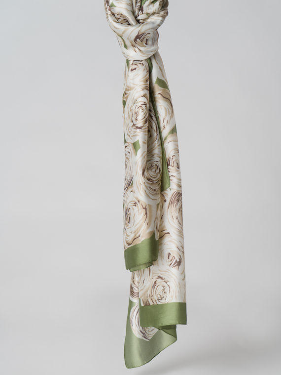 Шарф 80% п\э, 20% шелк, цвет зеленый, арт. 06006126  - цена 1070 руб.  - магазин TOTOGROUP