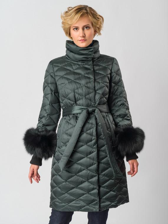Пуховик текстиль, цвет темно-зеленый, арт. 06006347  - цена 26990 руб.  - магазин TOTOGROUP