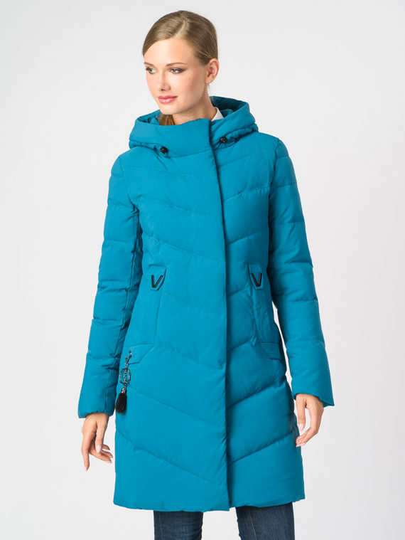 Пуховик текстиль, цвет бирюзовый, арт. 06006585  - цена 6990 руб.  - магазин TOTOGROUP
