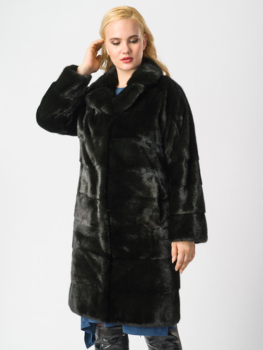 Шуба мех норка крашен., цвет темно-зеленый, арт. 06006641  - цена 59990 руб.  - магазин TOTOGROUP