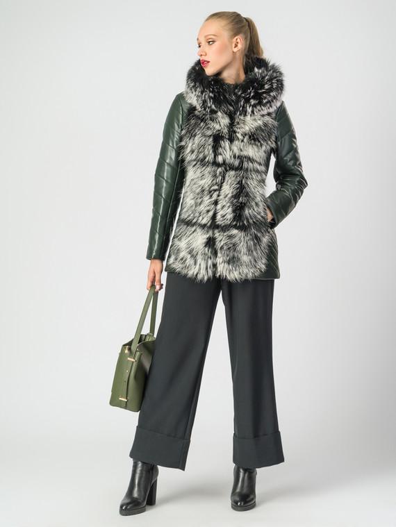 Кожаная куртка эко-кожа 100% П/А, цвет зеленый, арт. 06006868  - цена 11990 руб.  - магазин TOTOGROUP