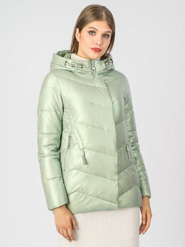 Кожаная куртка эко-кожа 100% П/А, цвет светло-зеленый, арт. 06007118  - цена 6990 руб.  - магазин TOTOGROUP