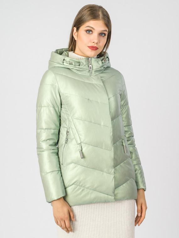 Кожаная куртка эко-кожа 100% П/А, цвет светло-зеленый, арт. 06007118  - цена 4490 руб.  - магазин TOTOGROUP