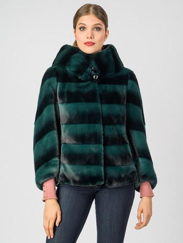 Шуба из эко-меха эко мех, цвет зеленый, арт. 06007196  - цена 7990 руб.  - магазин TOTOGROUP