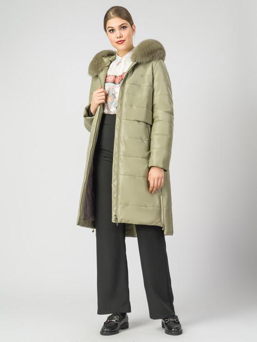 Кожаное пальто артикул 06007306/44