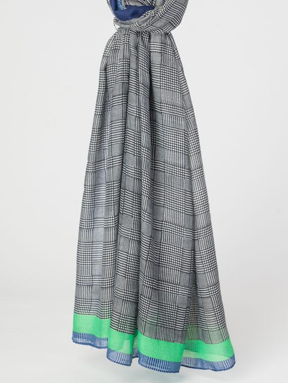 Шарф 100% хлопок, цвет зеленый, арт. 06107793  - цена 790 руб.  - магазин TOTOGROUP