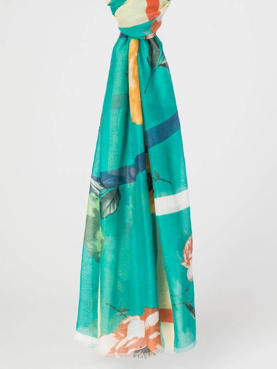 Шарф 50%хлопок,50%вискоза, цвет зеленый, арт. 06107799  - цена 890 руб.  - магазин TOTOGROUP