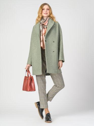 Текстильное пальто 30%шерсть, 70% п.э, цвет светло-зеленый, арт. 06107903  - цена 6290 руб.  - магазин TOTOGROUP