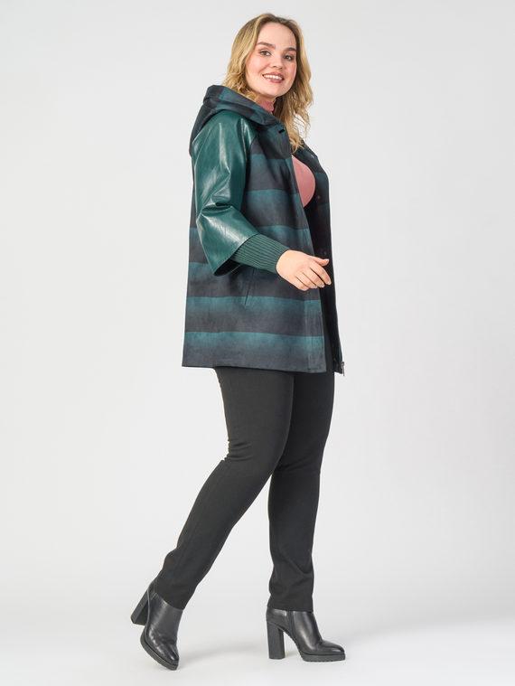 Кожаная куртка эко-замша 100% П/А, цвет зеленый, арт. 06108124  - цена 8990 руб.  - магазин TOTOGROUP