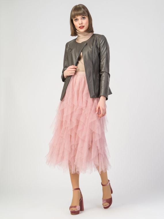 Кожаная куртка эко-кожа 100% П/А, цвет болотный, арт. 06108128  - цена 5890 руб.  - магазин TOTOGROUP