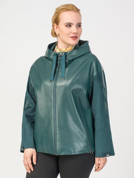 Кожаная куртка эко-кожа 100% П/А, цвет зеленый, арт. 06108141  - цена 6630 руб.  - магазин TOTOGROUP