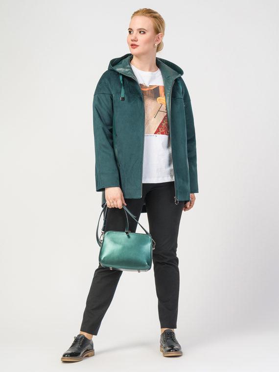 Кожаная куртка эко-кожа 100% П/А, цвет зеленый, арт. 06108142  - цена 7490 руб.  - магазин TOTOGROUP