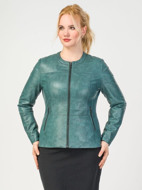 Кожаная куртка эко-кожа корова, цвет зеленый, арт. 06108155  - цена 5290 руб.  - магазин TOTOGROUP