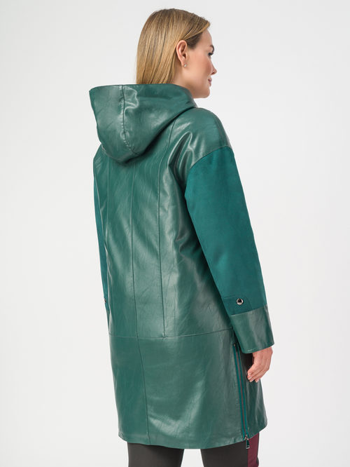 Кожаное пальто артикул 06108202/46 - фото 3