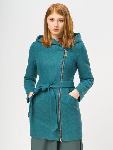 Текстильное пальто 35% шерсть, 65% полиэстер, цвет зеленый, арт. 06109085  - цена 4740 руб.  - магазин TOTOGROUP