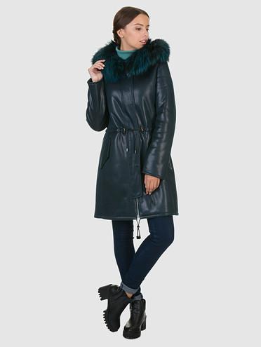 Дубленка эко-кожа 100% П/А, цвет темно-зеленый, арт. 06602038  - цена 4740 руб.  - магазин TOTOGROUP