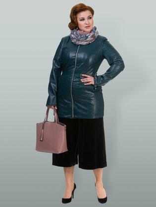 Кожаная куртка эко кожа 100% П/А, цвет зеленый, арт. 06700161  - цена 5290 руб.  - магазин TOTOGROUP
