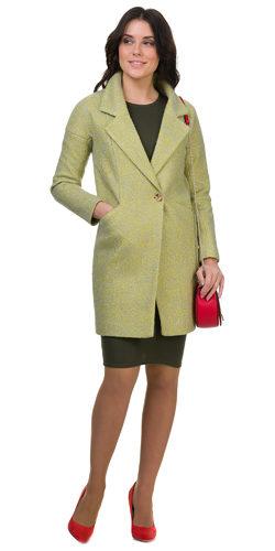 Текстильное пальто 30%шерсть, 70% п\а, цвет светло-зеленый, арт. 06700404  - цена 6990 руб.  - магазин TOTOGROUP