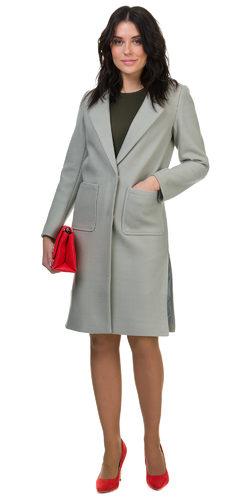 Текстильное пальто 30%шерсть, 70% п\а, цвет зеленый, арт. 06700405  - цена 5990 руб.  - магазин TOTOGROUP