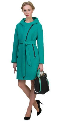 Текстильное пальто 30%шерсть, 70% п\а, цвет зеленый, арт. 06700406  - цена 6990 руб.  - магазин TOTOGROUP