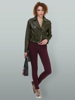 Кожаная куртка эко кожа 100% П/А, цвет зеленый, арт. 06700482  - цена 6990 руб.  - магазин TOTOGROUP