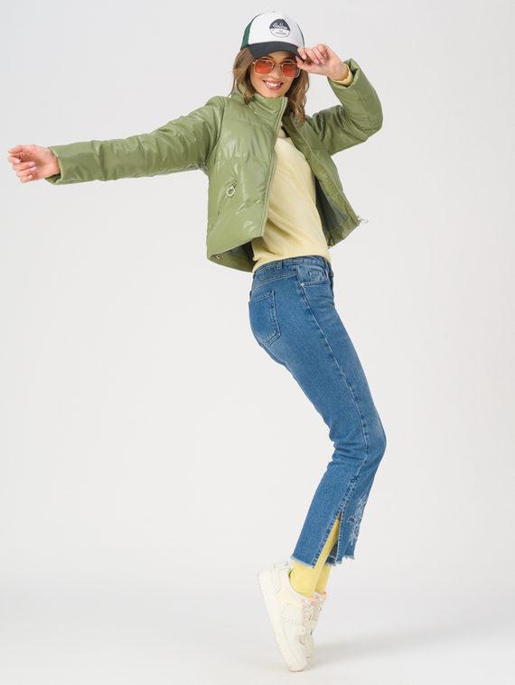 Кожаная куртка эко-кожа 100% П/А, цвет зеленый, арт. 06711480  - цена 3990 руб.  - магазин TOTOGROUP