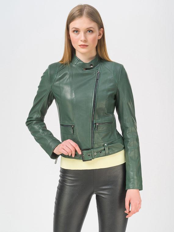 Кожаная куртка кожа, цвет зеленый, арт. 06802453  - цена 9490 руб.  - магазин TOTOGROUP