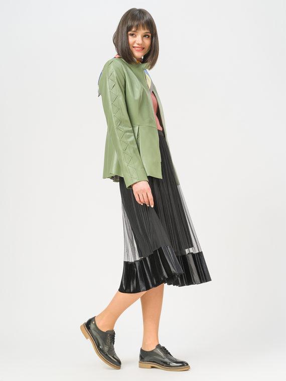 Кожаная куртка кожа , цвет зеленый, арт. 06809198  - цена 11290 руб.  - магазин TOTOGROUP
