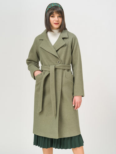 Текстильное пальто 35% шерсть, 65% полиэстер, цвет зеленый, арт. 06809978  - цена 6990 руб.  - магазин TOTOGROUP