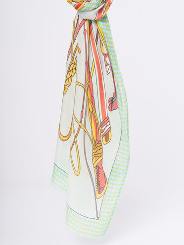 Шарф 50% хлопок,50% вискоза, цвет зеленый, арт. 06810301  - цена 940 руб.  - магазин TOTOGROUP