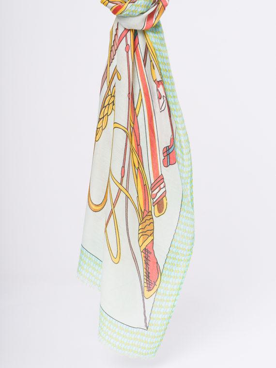 Шарф 50%хлопок,50%вискоза, цвет зеленый, арт. 06810301  - цена 940 руб.  - магазин TOTOGROUP