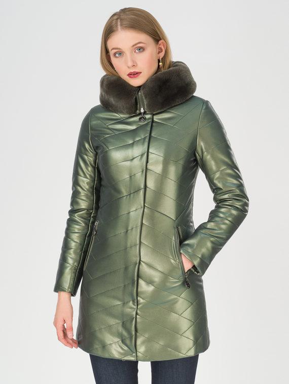 Кожаная куртка эко-кожа 100% П/А, цвет зеленый, арт. 06810769  - цена 9990 руб.  - магазин TOTOGROUP