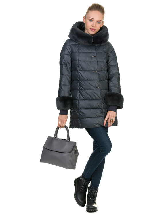 Пуховик текстиль, цвет серый, арт. 06900675  - цена 7990 руб.  - магазин TOTOGROUP