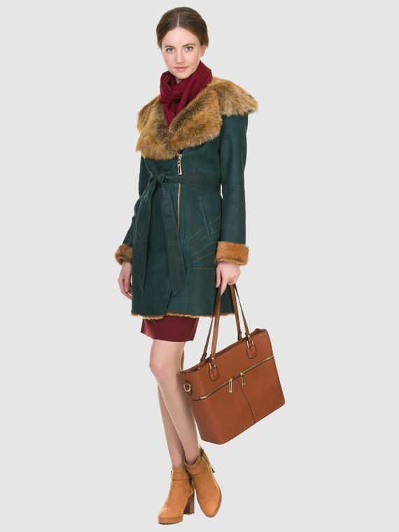 Дубленка дуб. овчина, цвет зеленый, арт. 06900914  - цена 19990 руб.  - магазин TOTOGROUP