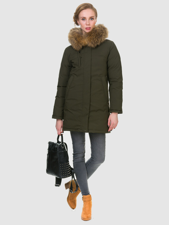 Пуховик текстиль, цвет зеленый, арт. 06900972  - цена 6630 руб.  - магазин TOTOGROUP