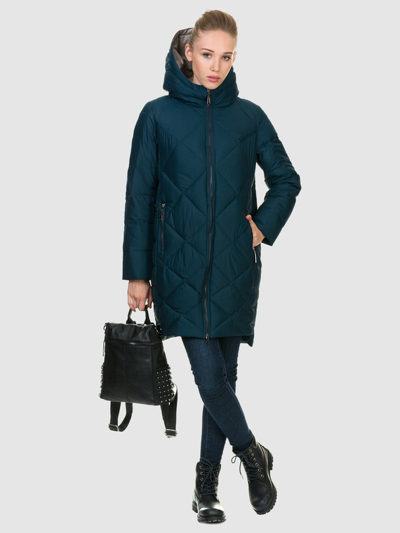 Пуховик текстиль, цвет бирюзовый, арт. 06900977  - цена 2290 руб.  - магазин TOTOGROUP